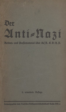Cover of Der Anti-Nazi