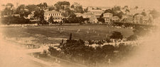 Photograph of the Parade Ground, Georgetown Cricket Club, showing a game in action