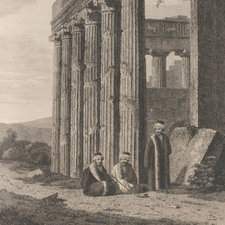 Engraved view of the temple of Erectheus