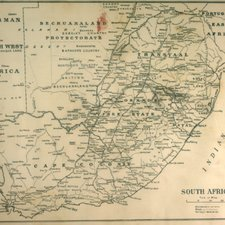 Map of the Transvaal and Cape Colony