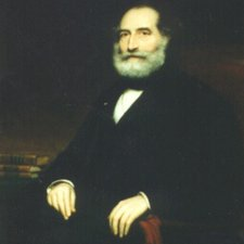 Oil painting of Thomas Arnold Rogers by J Sydney Willis Hodges. (BDA Museum ref: LDBDA 2941)
