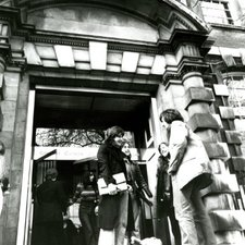 Students outside main College entrance at Manresa Road, 1970s (Ref: C/PH6/2)
