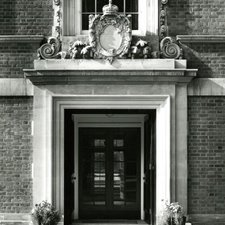 Main Entrance to Queen Elizabeth College, 1953 (Ref: Q/PH3/63)
