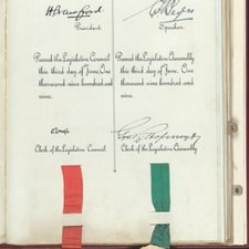 A statement of allegiance to Edward VII by the president and speaker of the Transvaal parliament from Addresses to His Majesty the King in connection with the establishment of the Union of South Africa. 1909-10 [FCO Historical Collection FOL. KTL2101 ADD]