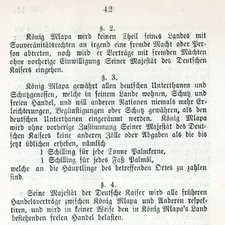 Extract from Togoland treaty: Togogebiet und Biafra-Bai. [Berlin: Deutsches Auswärtiges Amt?, 1884] [FCO Historical Collection FOL DT34.5 GER]