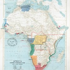 Map showing European possessions in Africa c. 1895, from: John Scott Keltie. The partition of Africa. Second edition. London: Edward Stanford, 1895 [Miscellaneous Collection DT31.K2E95]