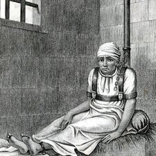 An inmate of Bethlem Hospital in 1814 (who has been identified as William Norris), from Jean-Étienne Dominique Esquirol's Des maladies mentales. Brussels: Libraire médicale et scientifique de JB Tircher, 1838 [Institute of Psychiatry Historical Collection h/Esq]