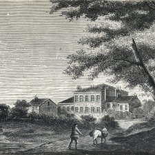 The York Retreat, from: Jonathan Gray. A history of the York Lunatic asylum: with an appendix, containing evidence of the cases of abuse lately inquired into by a Committee, &c. York: printed by W Hargrove and Co, for J Wolstenholme, York [et al], 1815 [Institute of Psychiatry Historical Collection h/Gra]