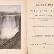 Title page and frontispiece showing the Kaieteur Falls