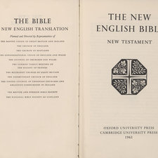 Frontispiece and title page from The New English Bible
