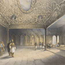 Lithographed view of the interior of the chamber, with various groups of figures