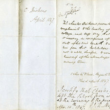 Handwritten letter from Dickens withdrawing his son Charley from King's College School