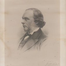 Lithograph of head and shoulders of Lister facing left