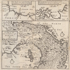 A late 17th century engraved map of the isthmus.