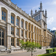 Photograph showing exterior of the Maughan Library.