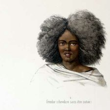 The hairstyles adopted by the women of Gondar and Againe, as depicted in: Théophile Lefèbvre. Voyage en Abyssinie exécuté pendant les années 1839, 1840, 1841, 1842, 1843. Paris : Arthur Bertrand, [1845-51] [FCO Historical Collection FOL. DT377 LEF]