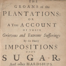 Title page, from: Edward Littleton. The groans of the plantations ... London: printed by M. Clark, in the year MDCLXXXIX [1689] [FCO Historical Collection HF2651.S8 LIT]