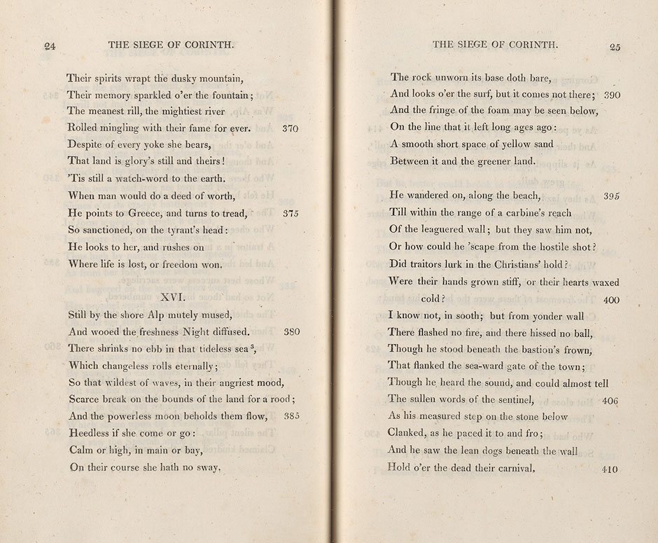 King's Collections : Online Exhibitions : Lord Byron