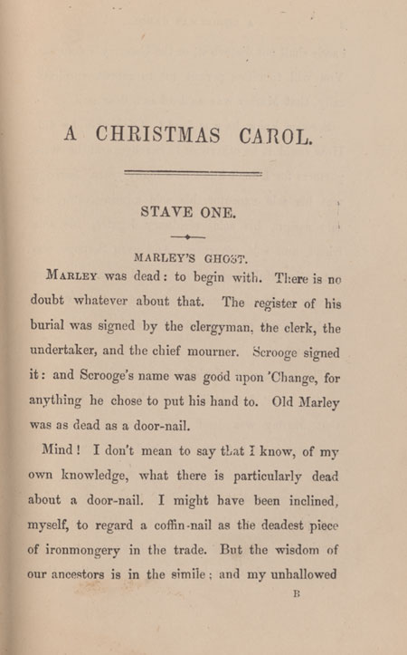 the opening page of a christmas carol originally published 1843whereas - When Was A Christmas Carol Published
