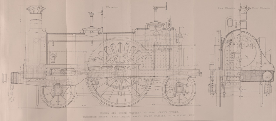 diagram of a locomotive engine from 1856