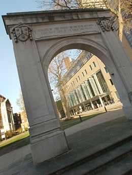 Memorial arch at Guy's Hospital
